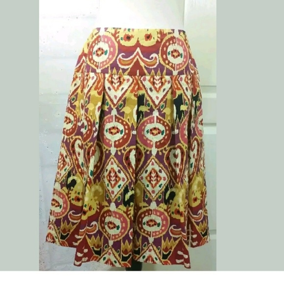 Harrod's Dresses & Skirts - Pleated Cotton colorful summer skirt zipper